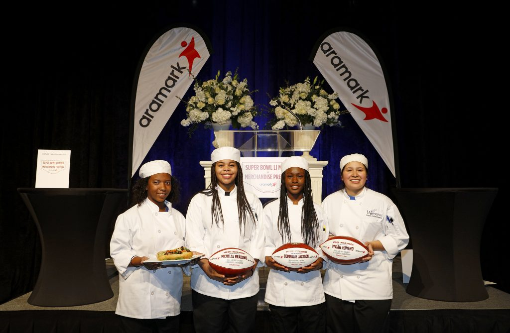Super Bowl LI food service workers