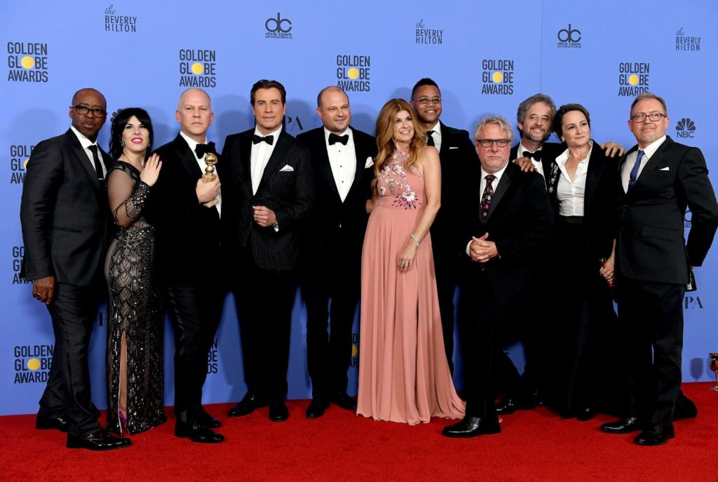 """The People vs. O.J. Simpson: American Crime Story"" team at the 2017 Golden Globe Awards"