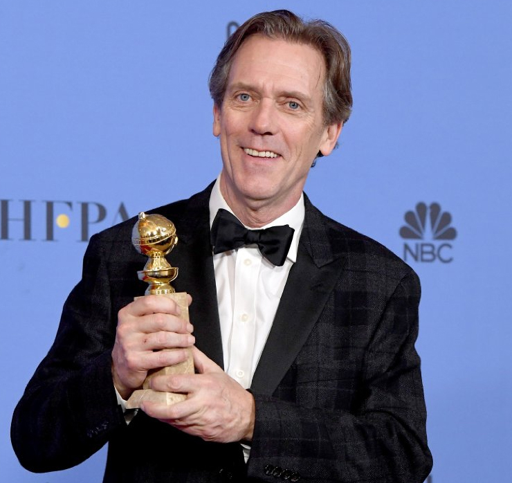 Hugh Laurie at the 2017 Golden Globe Awards