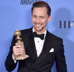 Tom Hiddleston at the 74th Annual Golden Globe Awards at the Beverly Hilton Hotel in Beverly Hills, California, on January 8, 2017.