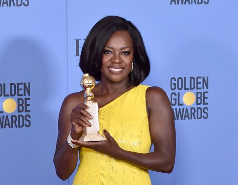 Viola Davis at the 74th Annual Golden Globe Awards at the Beverly Hilton Hotel in Beverly Hills, California, on January 8, 2017.