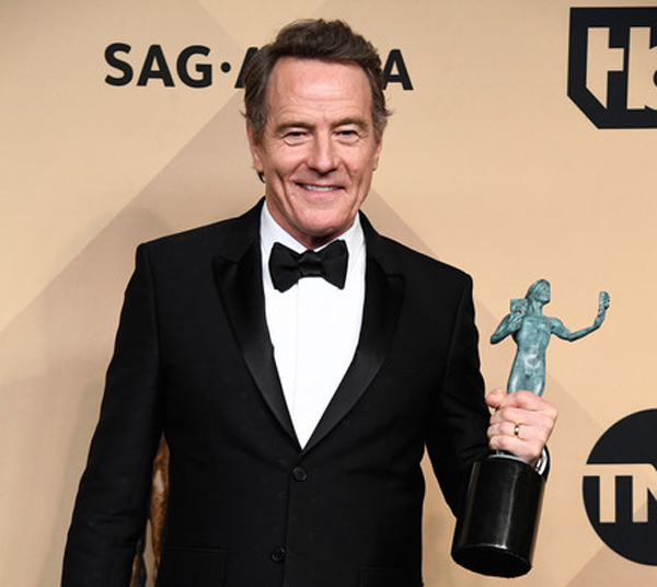 Bryan Cranston at the 29th Annual Screen Actors Guild Awards at the Shrine Auditorium in Los Angeles on January 29, 2017.