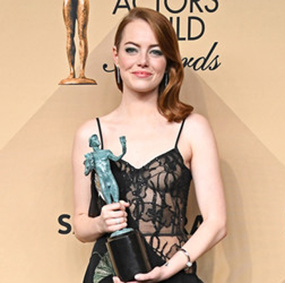 Emma Stone at the 29th Annual Screen Actors Guild Awards at the Shrine Auditorium in Los Angeles on January 29, 2017.