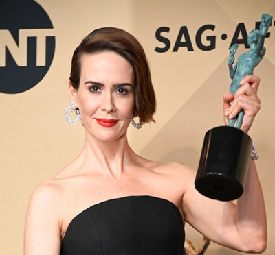 Sarah Paulson at the 29th Annual Screen Actors Guild Awards at the Shrine Auditorium in Los Angeles on January 29, 2017.