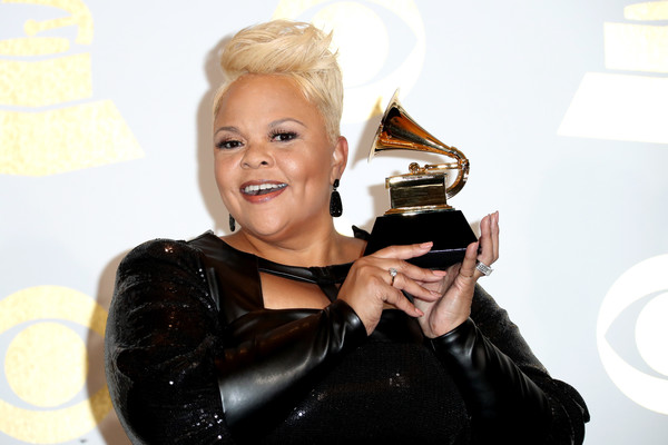 Tamela Mann at the 2017 Grammy Awards in Los Angeles.