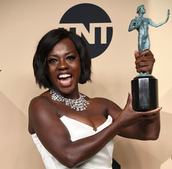 Viola Davis at the 29th Annual Screen Actors Guild Awards at the Shrine Auditorium in Los Angeles on January 29, 2017.