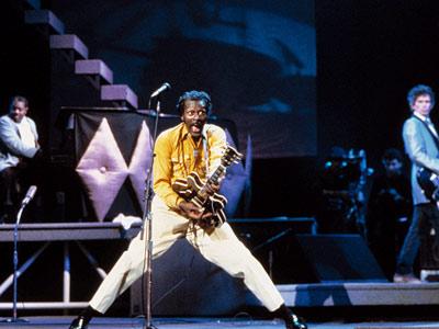 """Chuck Berry in the 1987 movie """"Hail! Hail! Rock 'n' Roll"""""""