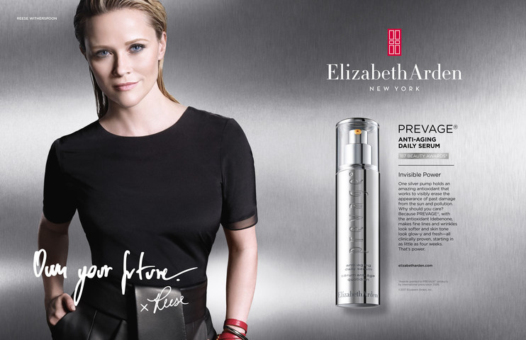 Reese Witherspoon in an Elizabeth Arden Prevage ad.
