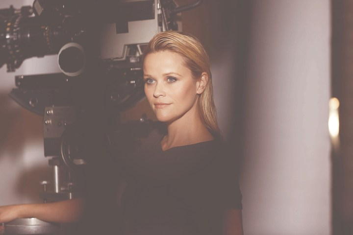 Reese Witherspoon at an Elizabeth Arden photo shoot.