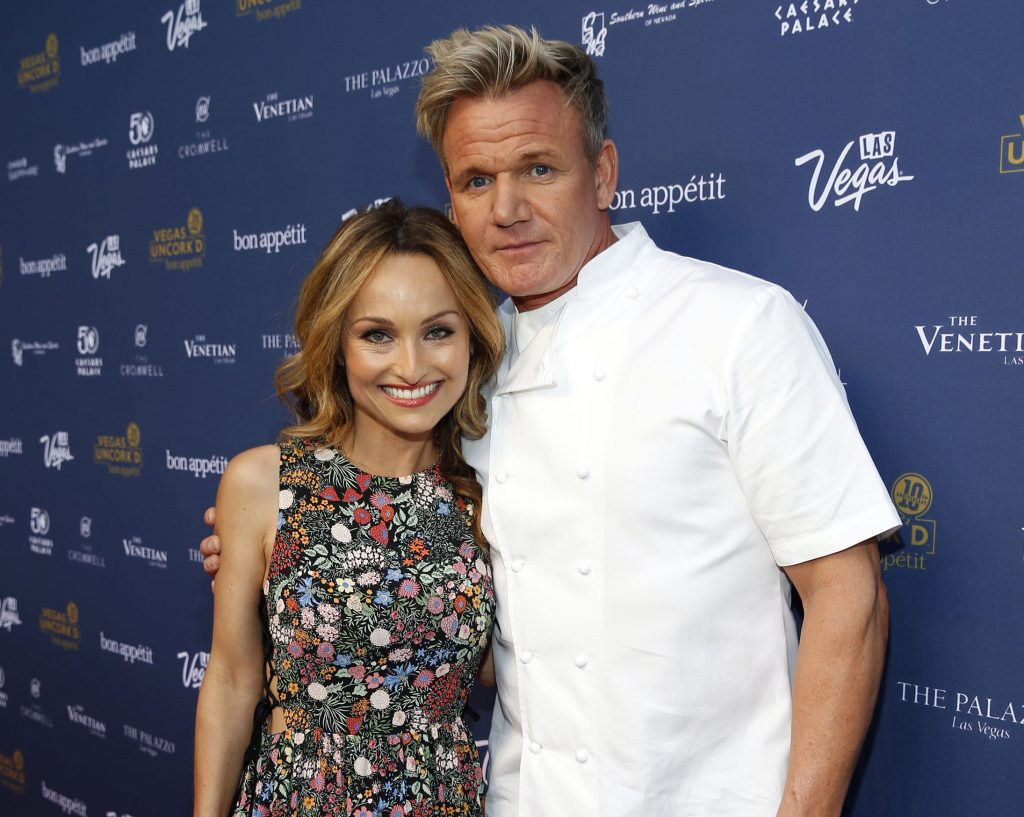 Giada De Laurentiis and Gordon Ramsay at Vegas Uncork'd 2016