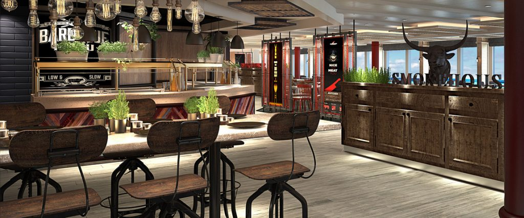 New Planks BBQ (Rendering courtesy of Princess Cruises)