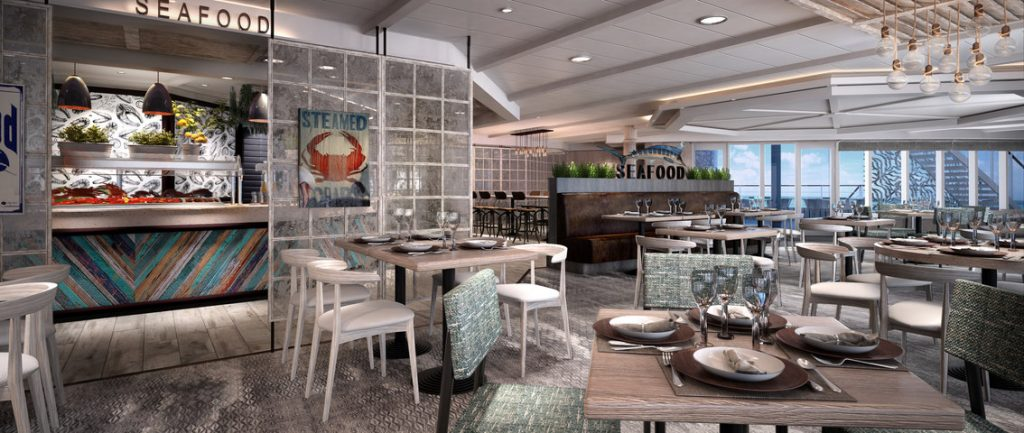 Steamers Seafood (Rendering courtesy of Princess Cruises)