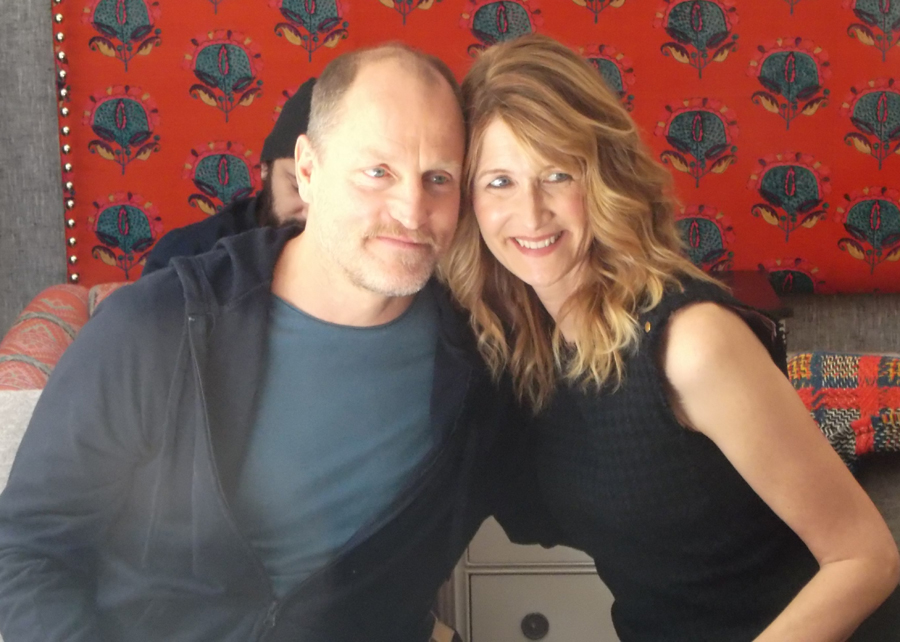 "Woody Harrelson and Laura Dern at the New York City press junket for ""Wilson"""