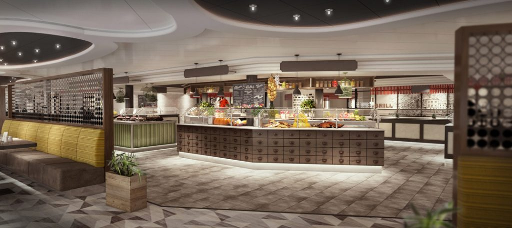 World Fresh Marketplace World Fresh Marketplace (Rendering courtesy of Princess Cruises)