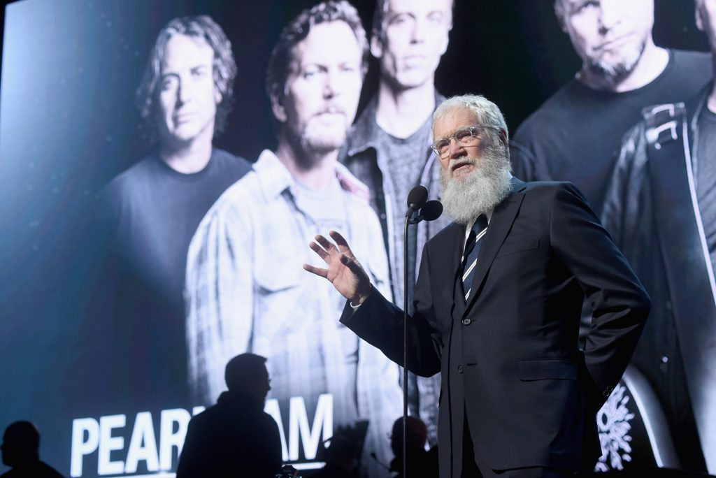 David Letterman (Photo by Jamie McCarthy/WireImage for Rock and Roll Hall of Fame)