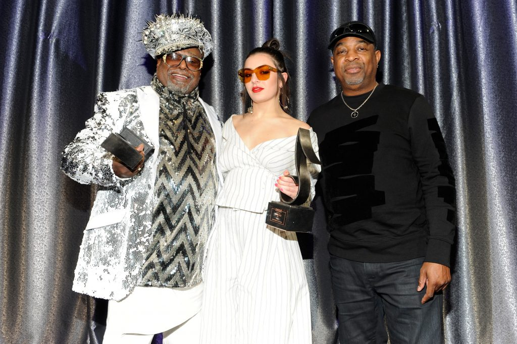 George Clinton, Charli XCX and Chuck D at the 21st Annaul SESAC Pop Awards
