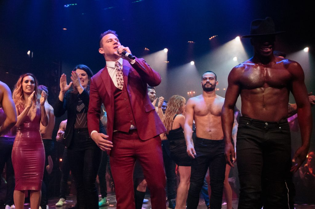 "Channing Tatum at the opening night of ""Magic Mike Live"" at the Hard Rock Hotel and Casino in Las Vegas on April 21, 2017."