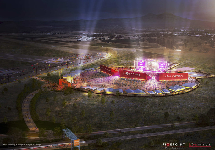 An interim amphitheater (name to be announced) that will open in Irvine, California, in 2017.