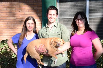 "Travis Brorsen (center) of ""My Fat Pet"" (Photo courtesy of Animal Planet)"
