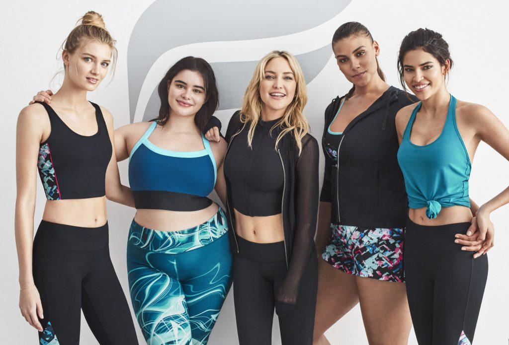 Kate Hudson (center) with Fabletics models.