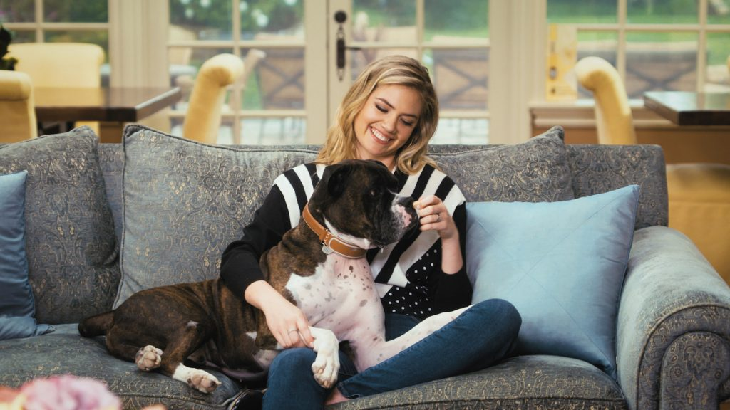Kate Upton and her dog Harley (Photo courtesy of Link AKC)