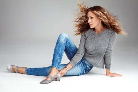 Sarah Jessica Parker wears SJP by Sarah Jessica Parker shoes.