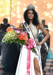 Miss District of Colombia Kára McCullough wins the 2017 Miss USA competition at the Mandalay Bay Resort and Casino in Las Vegas on, May 14, 2017.