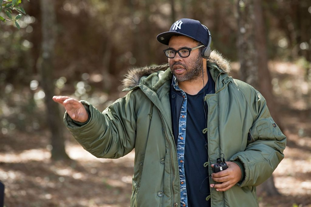 "Writer/director/producer Jordan Peele on the set of ""Get Out"" (Photo by Jason Lubin)"
