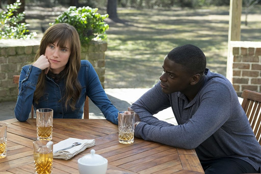 """Allison Williams and Daniel Kaluuya in """"Get Out"""" (Photo by Jason Lubin)"""