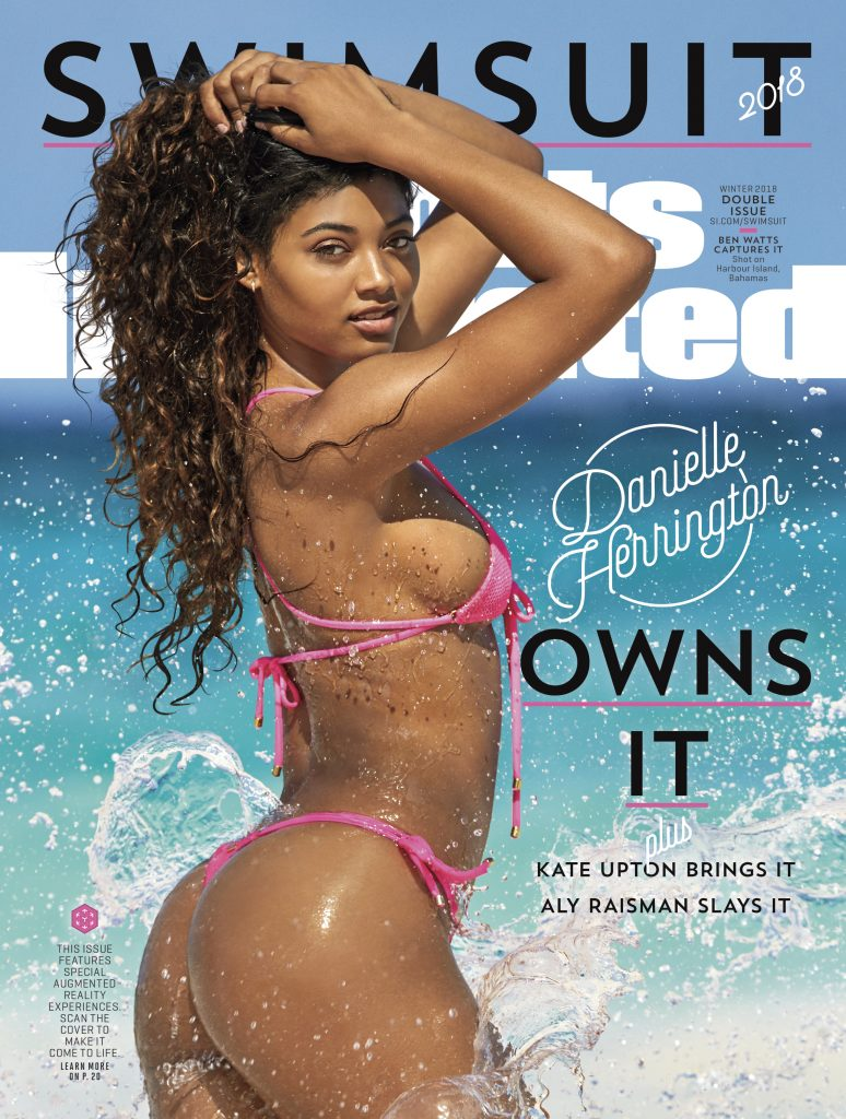 Danielle Herrington on the cover of Sports Illustrated's 2018 Swimsuit Issue (Photro by Ben Watts/Sports Illustrated)