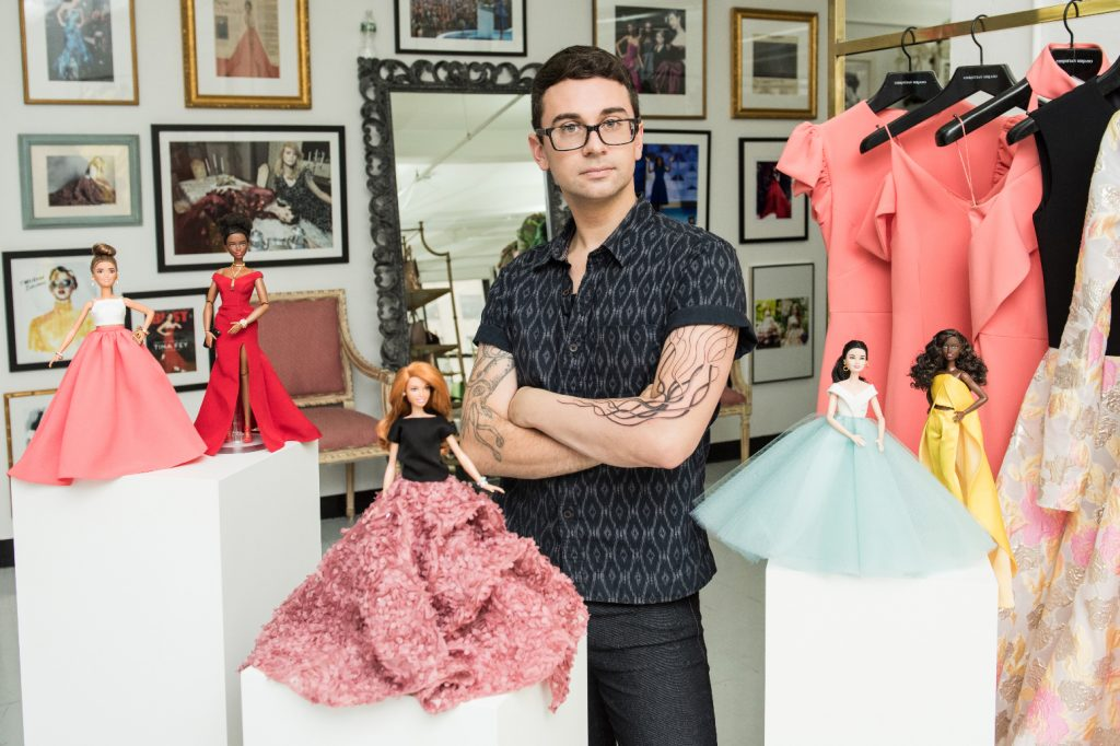 Christian Siriano and his exclusive Barbie fashion collection (Photo courtesy of Mattel)